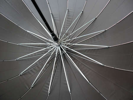 Inside of an open umbrella