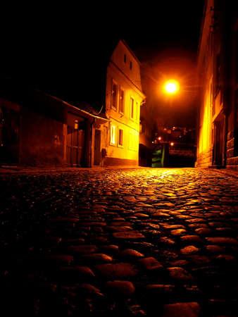 Old city in the night - Brasov, Romania