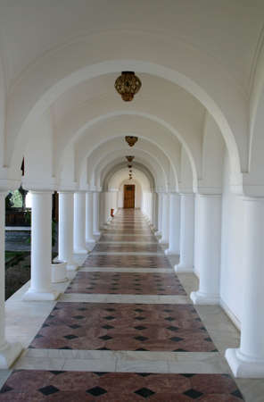 Aligned columns in an old monastery photo