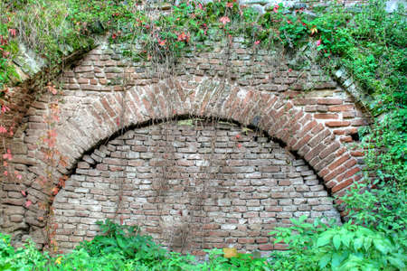 Old wall in a ruin with vegetation around Stock Photo - 1789374