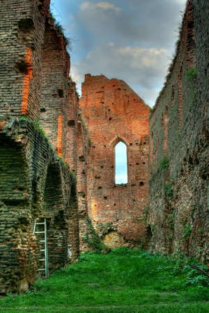Walls of an old fortress in ruins Stock Photo - 1789372