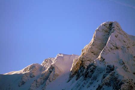 Winter landscape with in Romanian Alps - Fagaras Stock Photo - 4847441