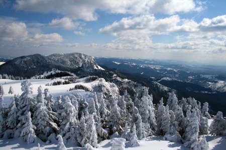 Winter landscape with in Hasmas mountains - Romania Stock Photo - 4850730