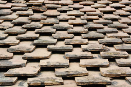 Old terracotta tile roof of a farm house Stock Photo - 5146679