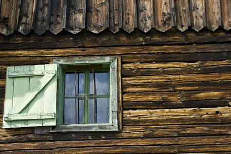 Open window of a rustic house in Romania Stock Photo - 6252387