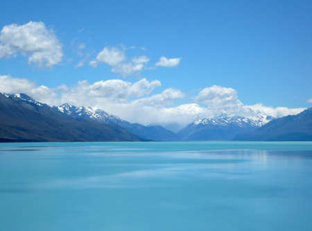 Mt Cook with clouds  New Zealand photo