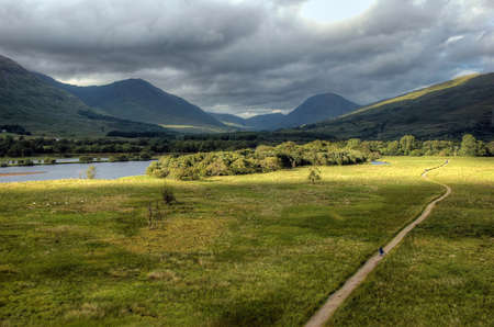 awe: Loch Awe, Highlands, Scotland, seen from Kilchurn Castle in north east direction  Stock Photo