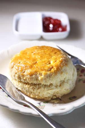 scones and strawberry jam