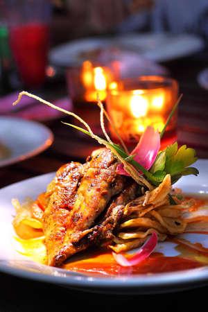 Un dîner romantique Banque d'images