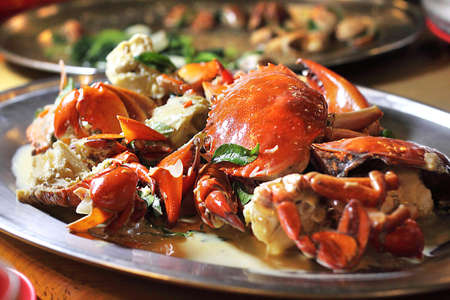Creamy butter crab