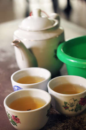 Chinese teapot & cup