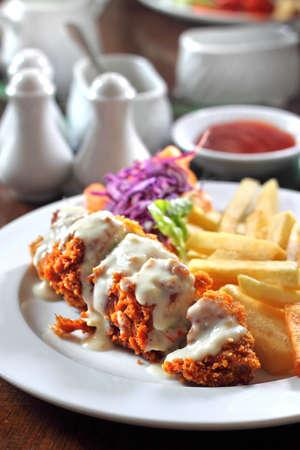 Stuffed Irish Chicken Stock Photo