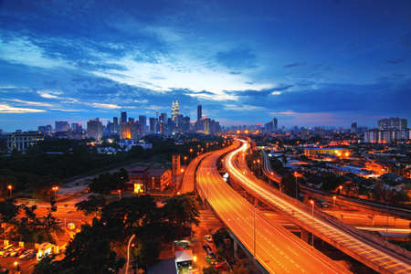 Kuala Lumpur City skyline at sunset  Stock Photo - 11333971