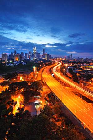 Kuala Lumpur City skyline at sunset  photo