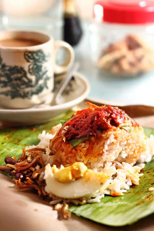 Nasi Lemak - Traditional Malaysian Breakfast photo