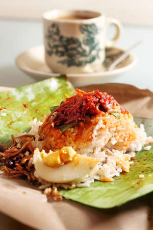 Nasi Lemak - Traditional Malaysian Breakfast Stock Photo - 12391985
