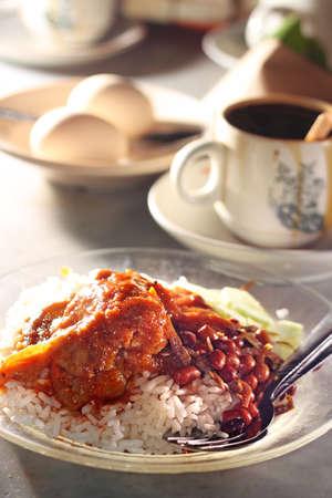 nasi: Nasi Lemak - Traditional Malaysian Breakfast