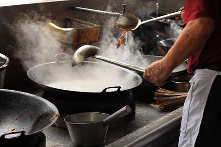 Chef at wok