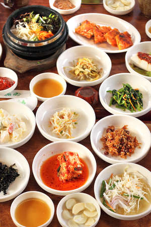 meat dish:  Korean Side Dishes Stock Photo
