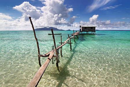 tropical island beach scenery