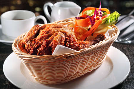 western food: Chicken in Basket