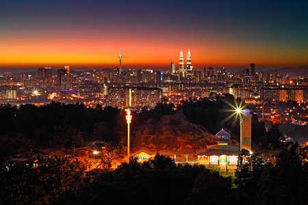 Kuala Lumpur City at Dusk Фото со стока