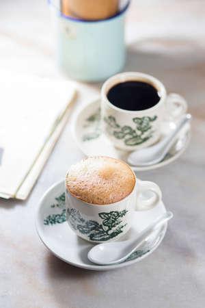 Ipoh white coffee Stock Photo