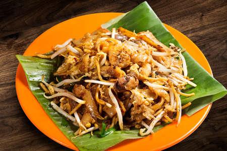 Delicious Penang fried Char Kuey Teow , Asian food. Фото со стока