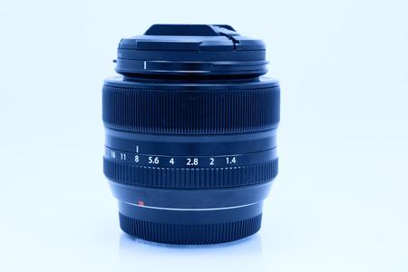 camera lens: Black camera lens isolated on white background