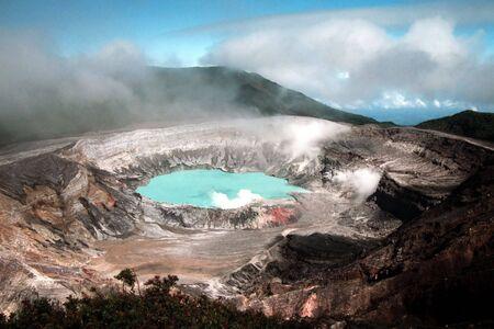 extinction: Poas volcano in Costa Rica Stock Photo