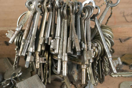 bundle of old keys in a box Stock Photo - 2523059