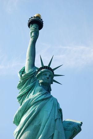 Statue of Liberty in New York in a sunny day photo