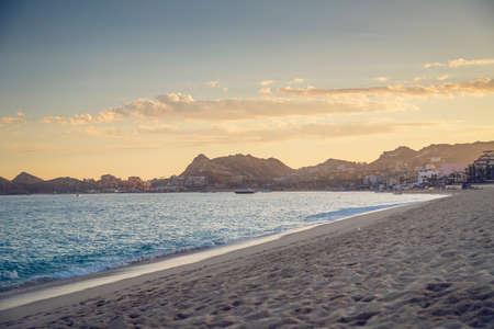 lucas: Sandy Beach View of Waves at Beach in Mexico, Cabo San Lucas