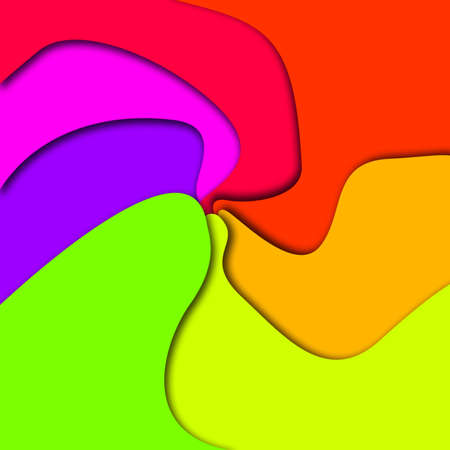 bright: bright colour swirled background Stock Photo