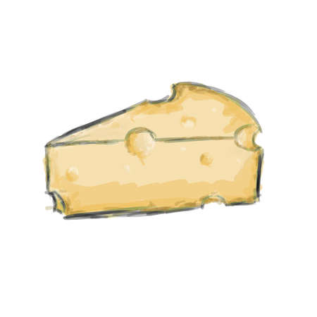 wedge: Illustrated Wedge of Cheese