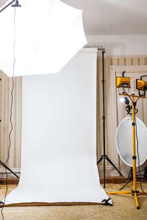 Studio Setup fotograaf Stockfoto