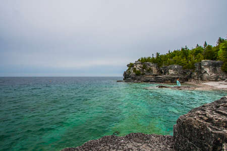Scenic view of Georgian Bay at the Grotto