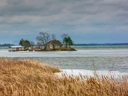 winter escape: thousand islands national park in canada, ontario