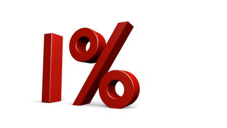 render: one percent, 3d render