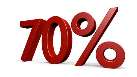 seventy percent, 3d render Banco de Imagens