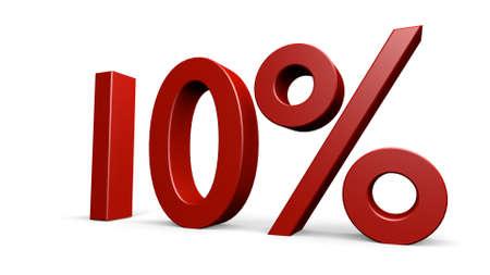 render: ten percent, 3d render Stock Photo