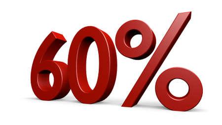 sixty percent, 3d render