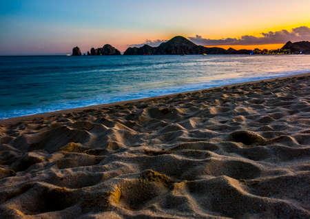 lucas: Beach Sunset Colours in Cabo San Lucas, Mexico