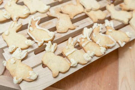 homestyle: Bunny Rabbit Cookies Homestyle Baking Stock Photo