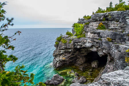 Scenic Views at the Grotto on Georgian Bay Ontario Canada Great Lakes Region Фото со стока - 56881324