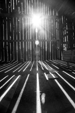 View from inside old barn