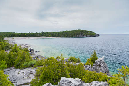 great bay: Scenic Views at the Grotto on Georgian Bay Ontario Canada Great Lakes Region