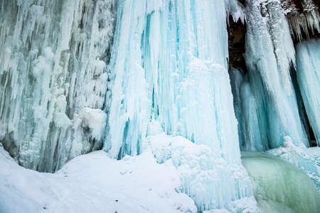 ontario: Frozen Indian Falls in Owen Sound Ontario