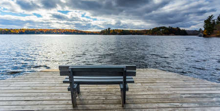 waters  edge: scenic view from waters edge Stock Photo