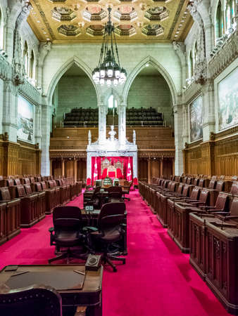 ottawa: OTTAWA, CANADA - APRIL 16, 2015 : The Parliament Buildings in Ottawa, Canadas Capital City and head of its federal government